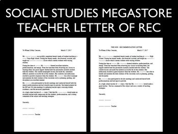 Student Teacher Letter of Recommendation