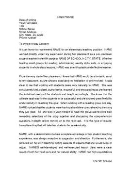 Sample Letter Of Recommendation Teacher from ecdn.teacherspayteachers.com