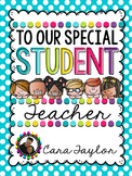 Student Teacher Memory Gift Book
