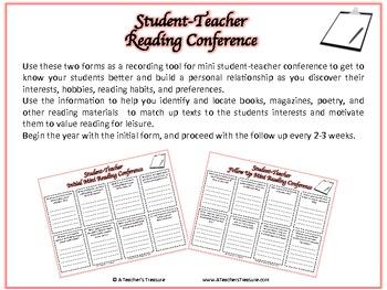 Student-Teacher Mini Reading Conference