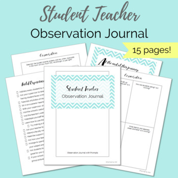 Student Teacher Observation Prompt Sheets