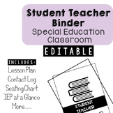 Student Teacher Organizational Binder