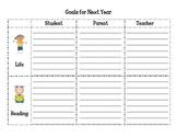 Student Teacher Parent Goals