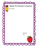 Student Teacher Parent Letter Template
