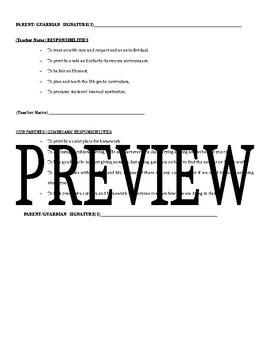 Student/Teacher/Parent Responsibilties