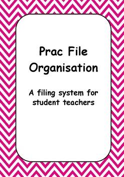 Student Teacher Practicum Planner - Pink Chevron