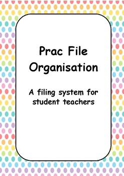 Student Teacher Practicum Planner - Rainbow Dots