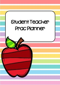 Student Teacher Practicum Planner - Rainbow Stripes