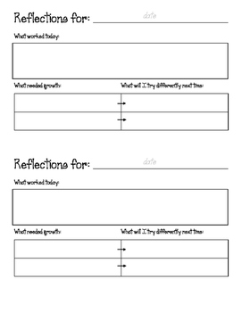 Student Teacher/Practicum Reflection
