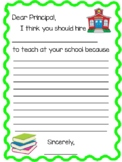 Student Teacher Recommendation Letter Writing Prompt