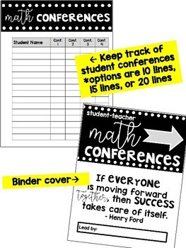 Student-Teacher Reflection Math Conferences - Forms for the Full Year