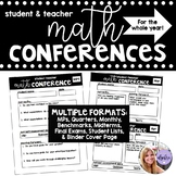 Student-Teacher Reflection Math Conference Forms for Full Year