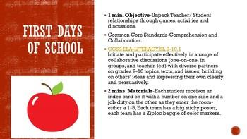 Student-Teacher Relationship Activity