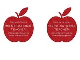 "Student Teacher ""Scent-sational"" Appreciation Tag"