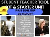 STUDENT TEACHER STARTER KIT SURVIVAL BUNDLE US HISTORY FIRST SEMESTER
