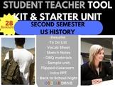 STUDENT TEACHER STARTER KIT SURVIVAL BUNDLE US HISTORY SECOND SEMESTER