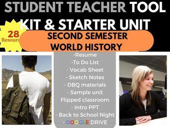 STUDENT TEACHER STARTER KIT SURVIVAL BUNDLE WORLD HISTORY SECOND SEMESTER