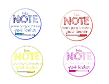 Student Teacher/Student Observer Gift Tags
