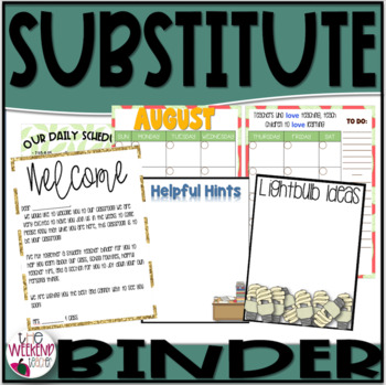 Student Teacher Survival Binder (apple theme)
