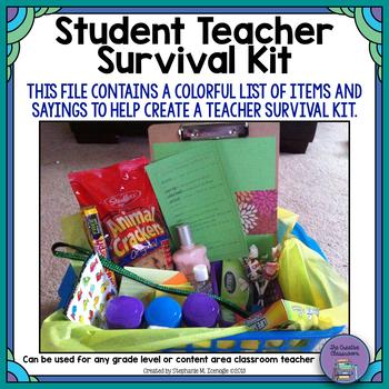 Student Teacher Survival Kit