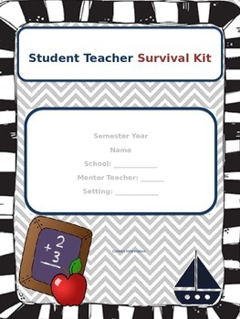 Student Teacher Survival Kit Label Pages