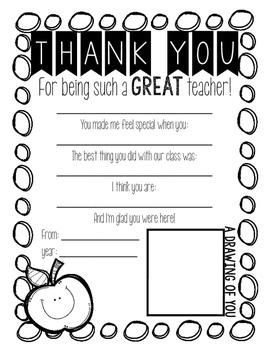 Student Teacher Thank You