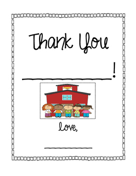 Student Teacher Thank You or Goodbye Booklet - Differentiated Activities