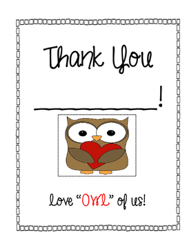 Student Teacher Thank You or Goodbye Booklet - Differentia