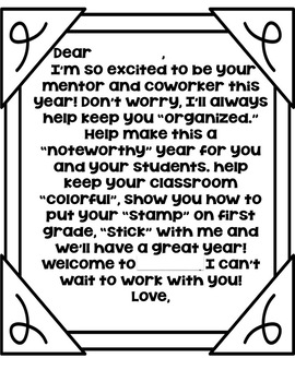 Student Teacher Welcome Note with Target Gift Basket