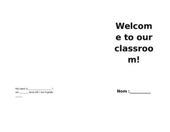 Student Teacher Welcome Pamphlet