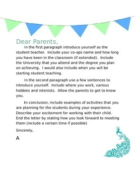 Introductory letter to parents template teaching resources student teacher welcome template student teacher welcome template altavistaventures Gallery