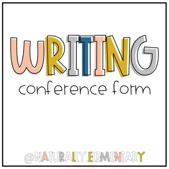 Student-Teacher Writing Conference Form