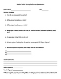 Student-Teacher Writing Conference Questionnaire