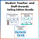Student, Teacher, and Staff Awards Sailing Theme Mega Bundle