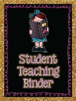 Student Teacher or Intern Binder Pack! {EDITABLE} {Welcome and Goodbye Gift}