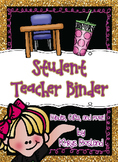 Student Teacher or Intern Binder Pack! {EDITABLE} {Welcome and Goodbye Gift}