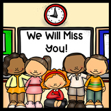 Student Teacher or Long Term Sub Goodbye Book