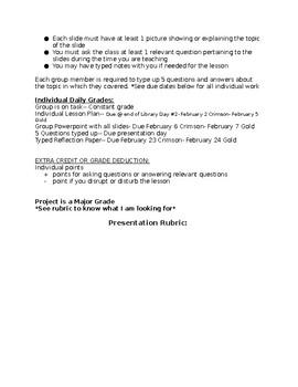 Student Teaching Assignment