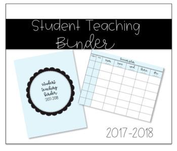 Student Teaching Binder *UPDATED*