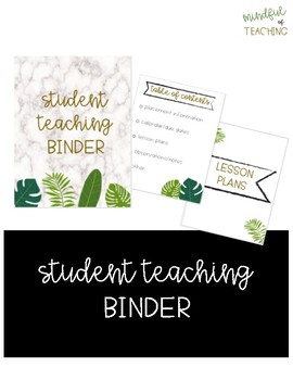 Student Teaching Binder (Cover/Dividers)