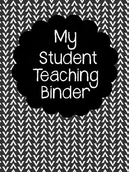 Student Teaching Binder Cover