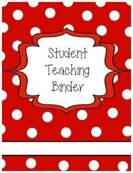 Student Teaching Binder Cover (Editable)