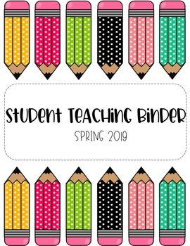 Student Teaching Binder Cover - Pencil Me In