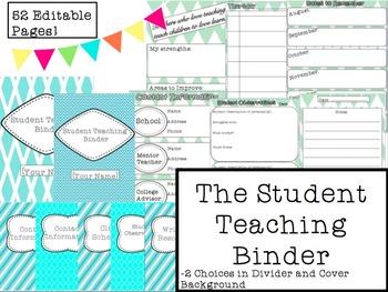Student Teaching Binder EDITABLE