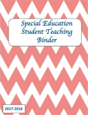 Student Teaching Binder (Special Education) With Editable Pages