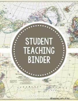 Student Teaching Binder (World Map)