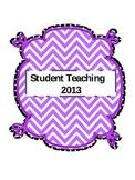 Student Teaching Binder (editable)