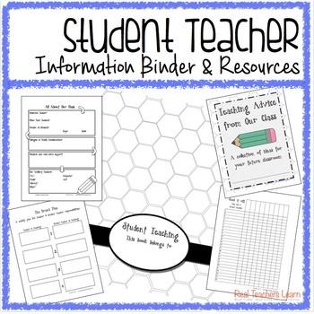 Student Teacher Information Binder and Cooperating Teacher Resources