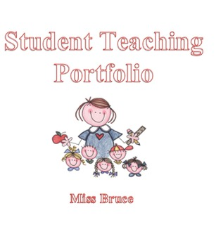 Student Teaching Portfolio Binder Cover