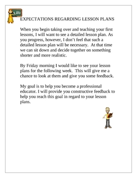 Student Teaching Lesson Plan Expectations